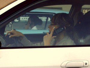 Driving & talking on cell phone